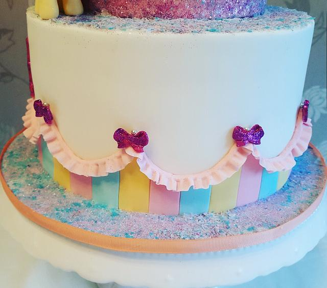 My little pony themed cake
