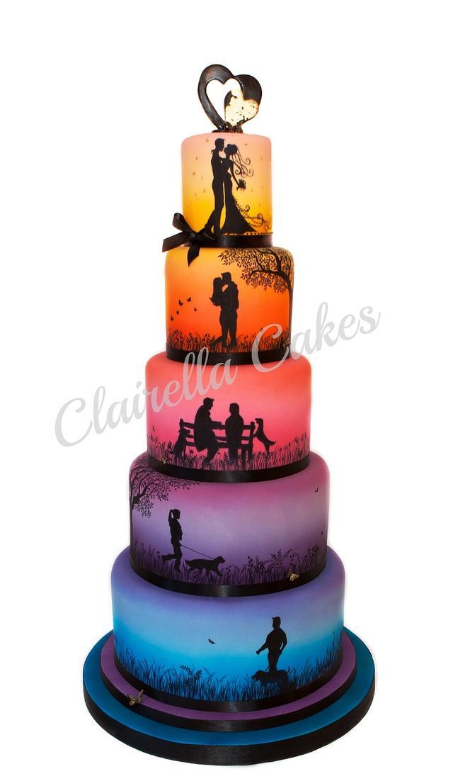 """Love Story"" Wedding Cake"