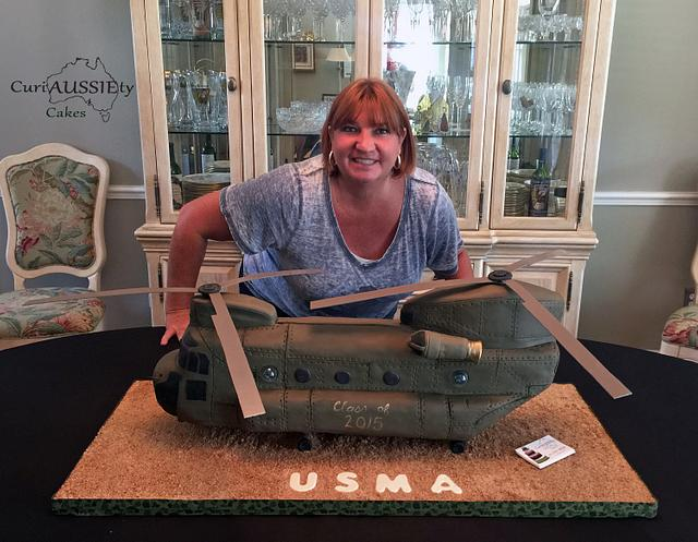 Huge Chinook helicopter cake