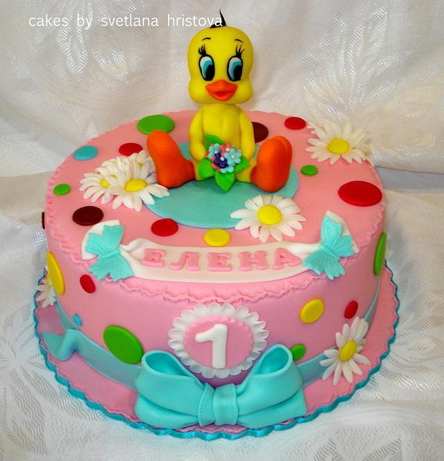 Prime Tweety Bird Cake Cake By Svetlana Hristova Cakesdecor Funny Birthday Cards Online Kookostrdamsfinfo