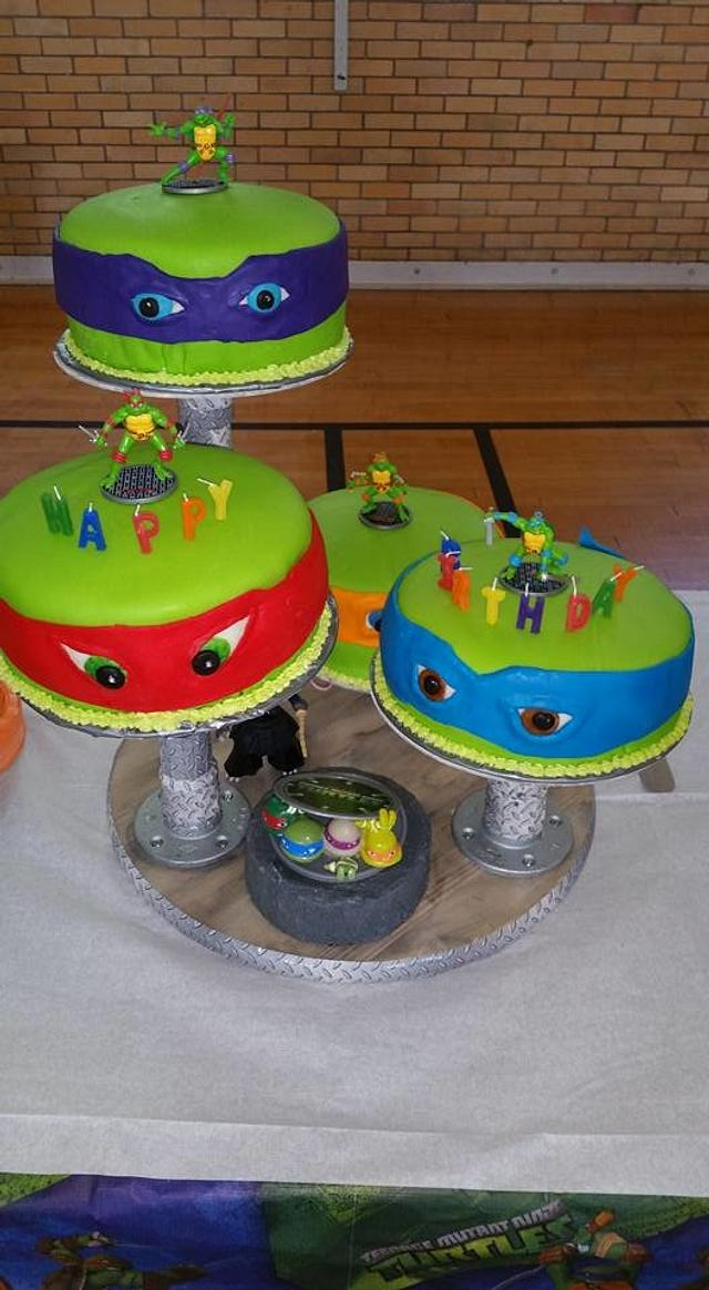 Brilliant Tmnt Birthday Cake Cake By Grandmab Cakesdecor Personalised Birthday Cards Paralily Jamesorg