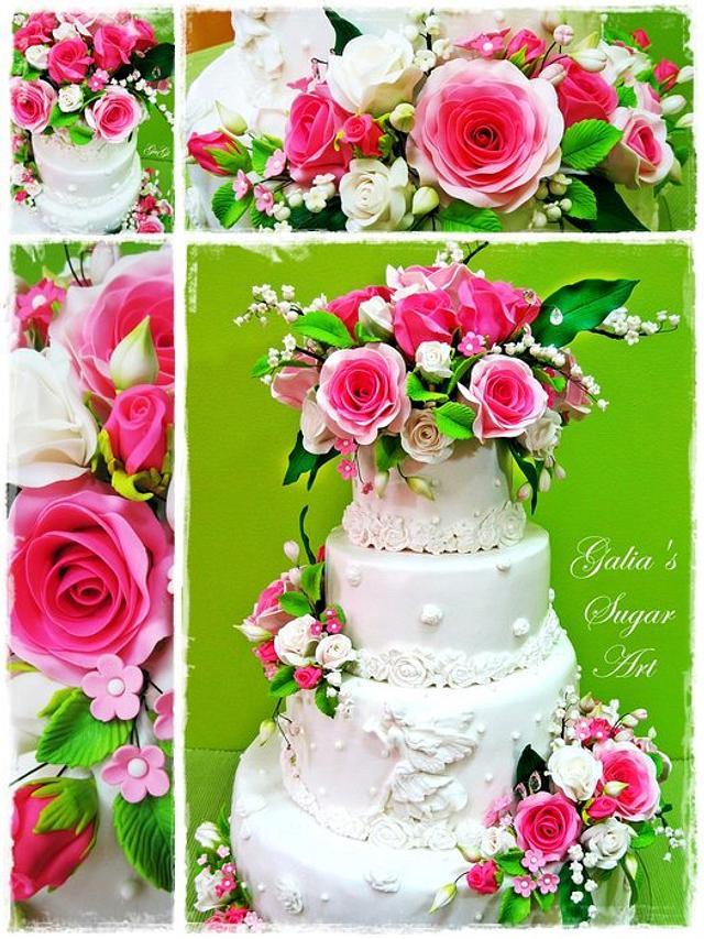 Cake pink romance