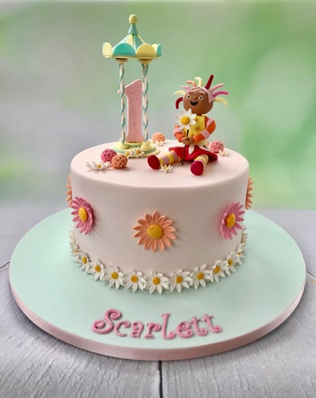 Sensational Upsy Daisy Cake By Canoodle Cake Company Cakesdecor Funny Birthday Cards Online Elaedamsfinfo