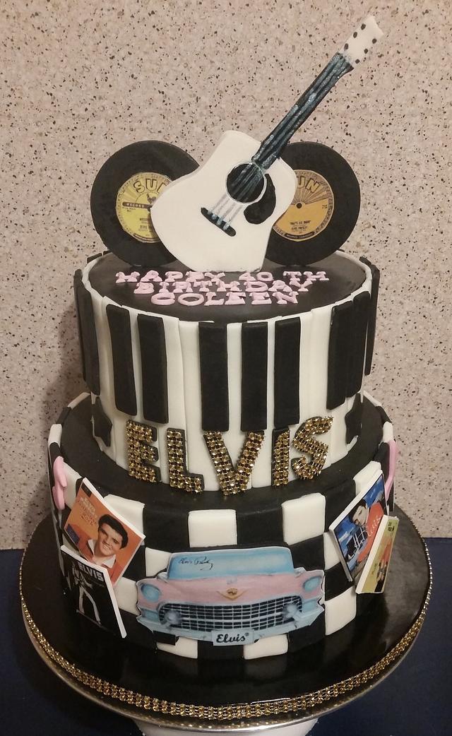 Elvis 40th Birthday Cake