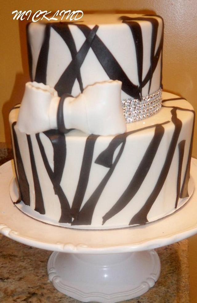 A ZEBRA THEMED BIRTHDAY CAKE