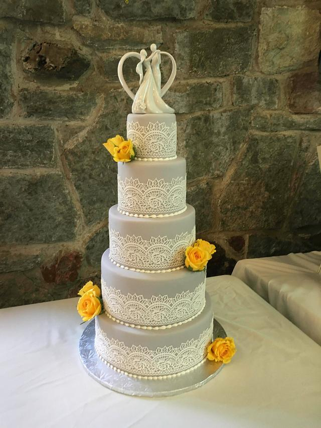 Grey Cake Lace