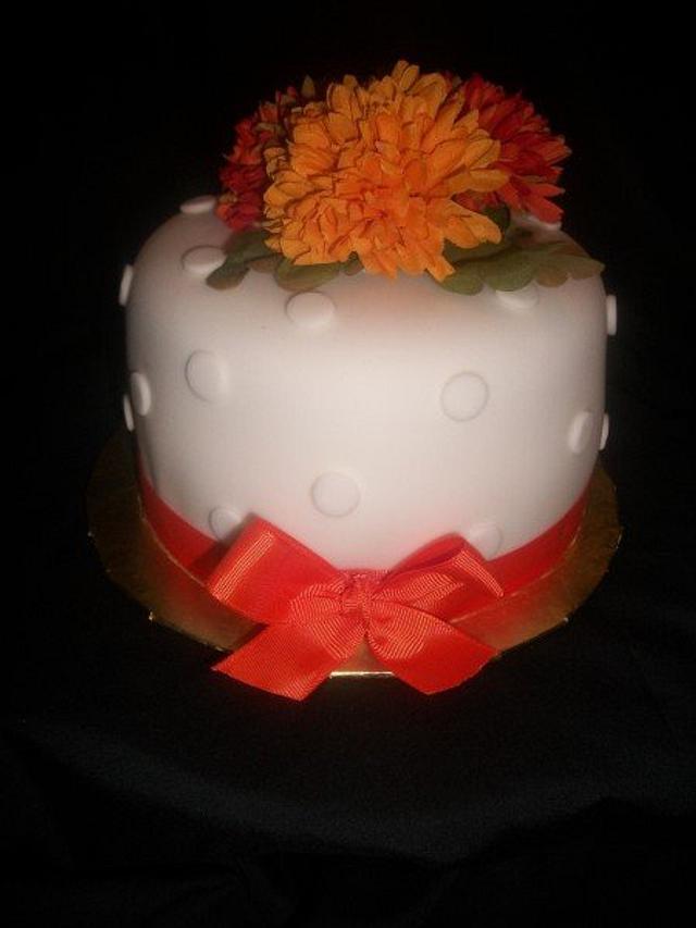 Simple Fall Inspired Destination Wedding Cake