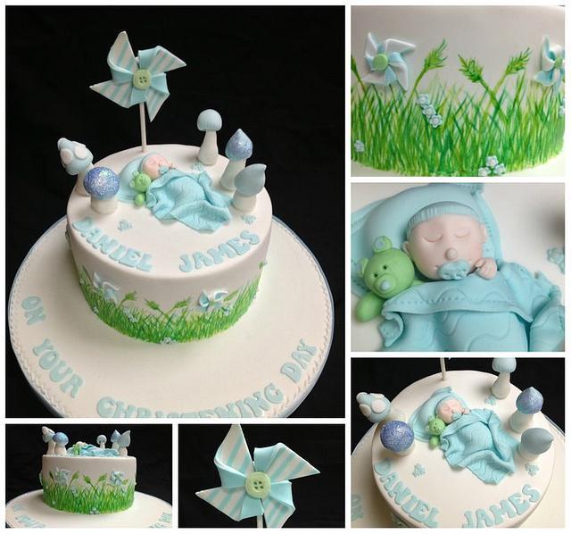 Woodland theme Christening cake
