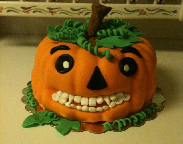 Pumpkin Cake for Our Dentist