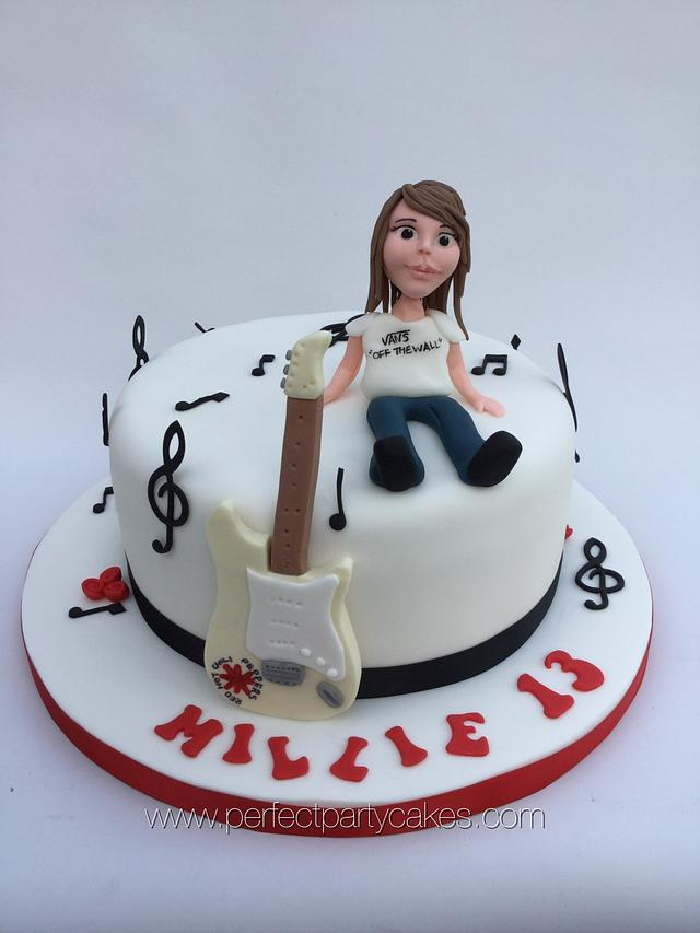 Pleasing Guitar Birthday Cake Cake By Perfect Party Cakes Cakesdecor Funny Birthday Cards Online Elaedamsfinfo