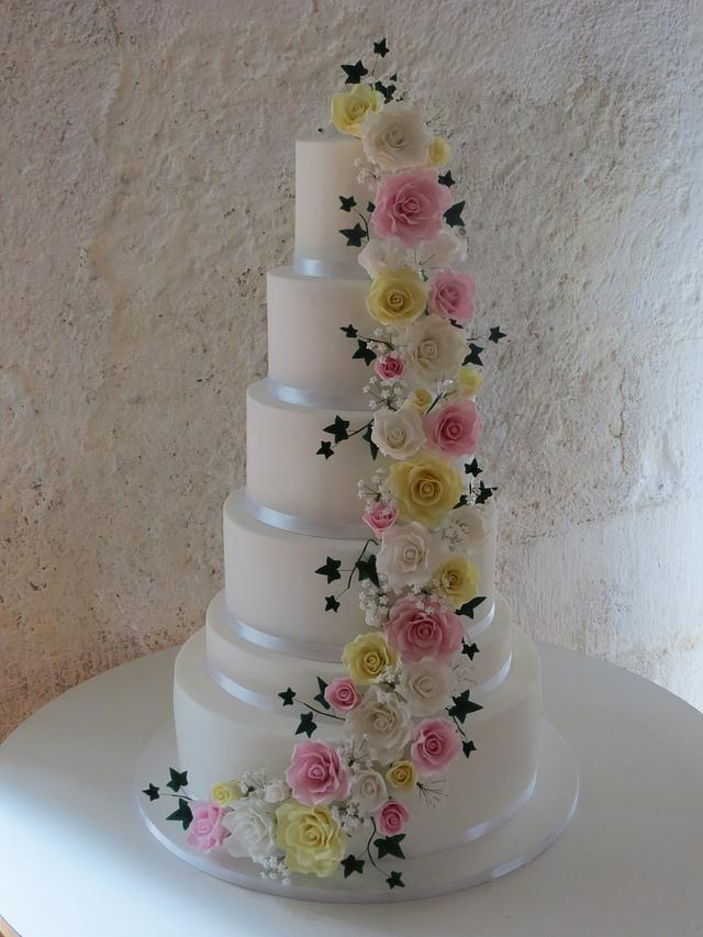 Pastel rose cascade