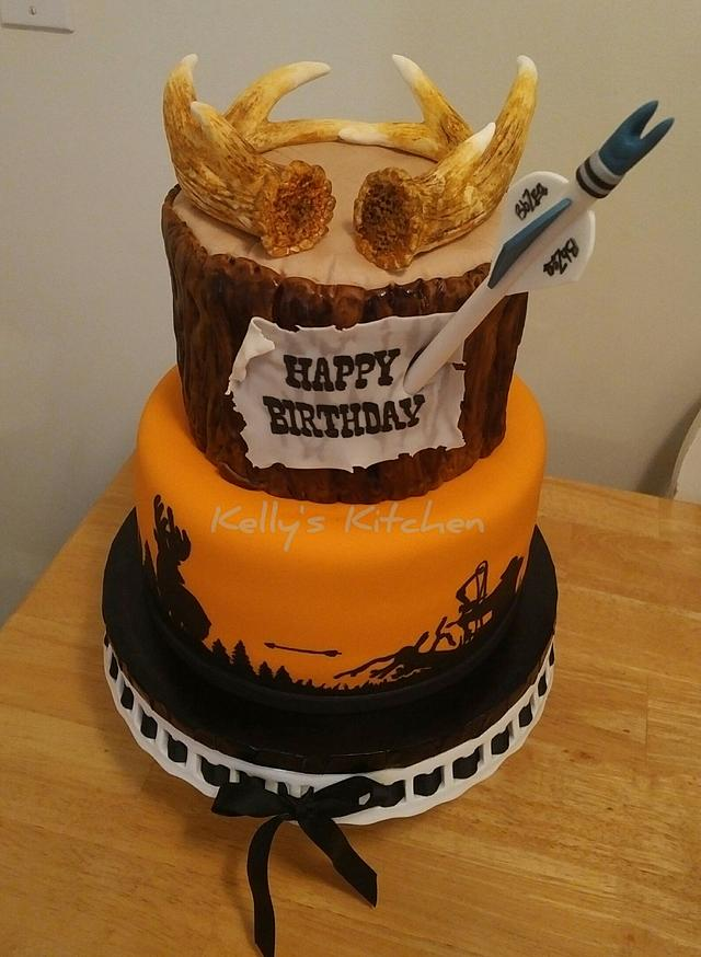 Bow hunter's birthday cake
