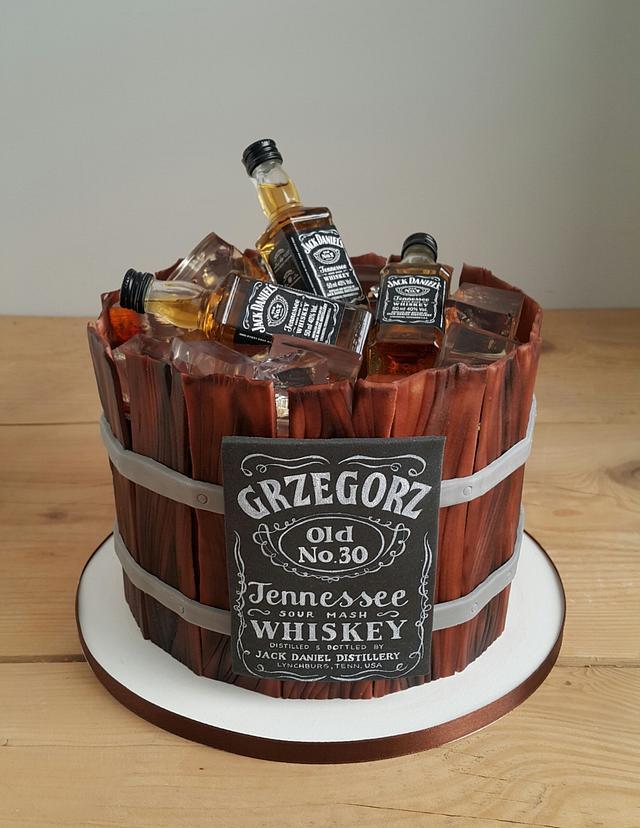 Jack Daniel's birthday cake