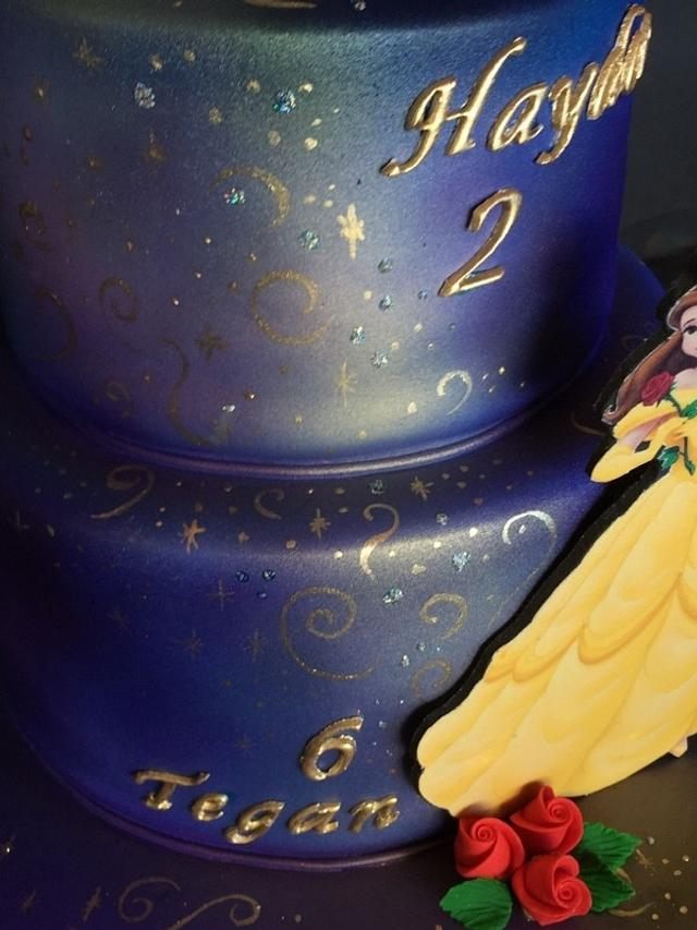 Princess Belle and Mickey Mouse