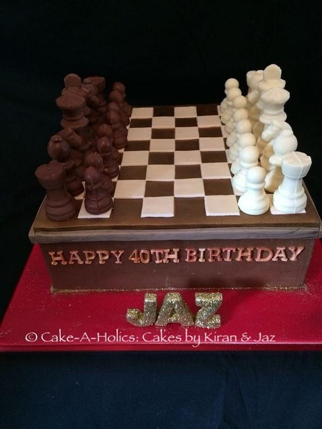 Surprising Chess Board Birthday Cake Cake By Cake A Holics Cakes Cakesdecor Funny Birthday Cards Online Overcheapnameinfo