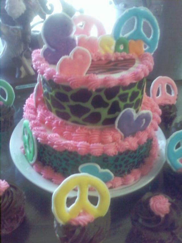 Peace Birthday cake