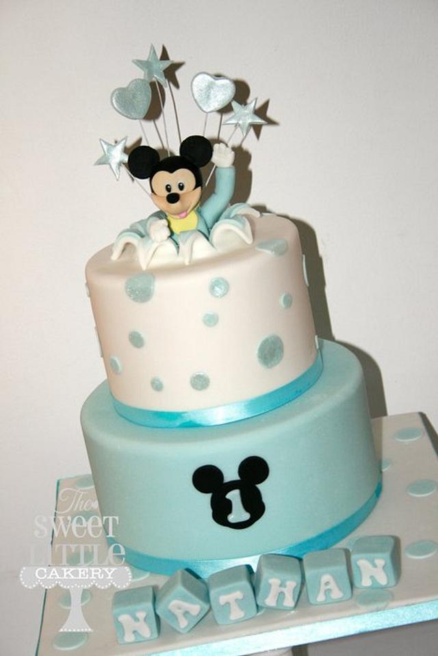 Fantastic Mickey 1St Birthday Cake Cake By Thesweetlittlecakery Cakesdecor Funny Birthday Cards Online Fluifree Goldxyz