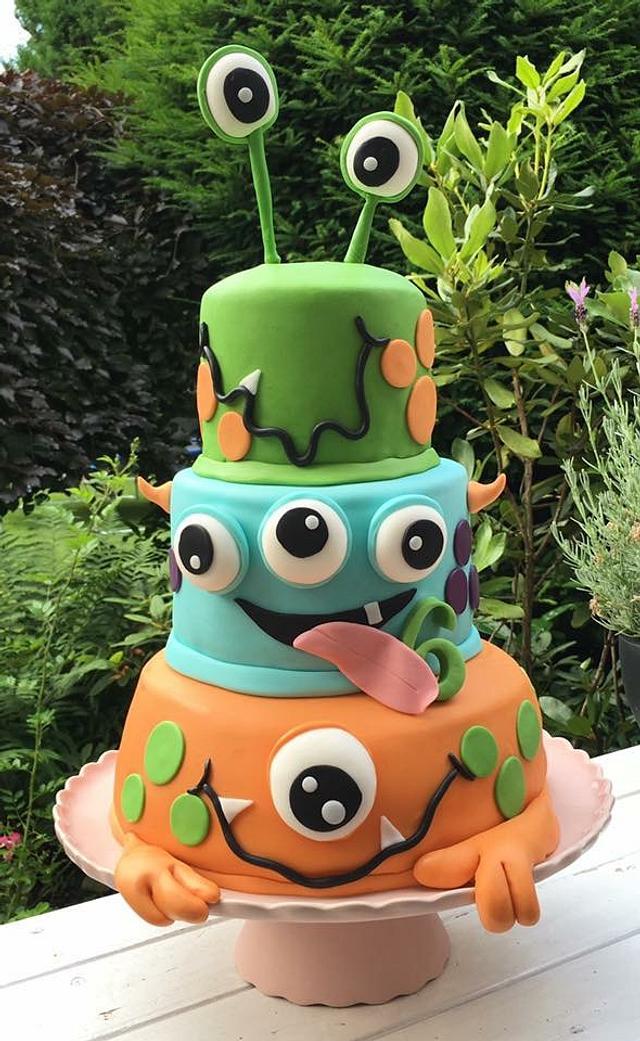 Superb Monster Birthday Cake Cake By Agnes Linsen Cakesdecor Funny Birthday Cards Online Inifofree Goldxyz