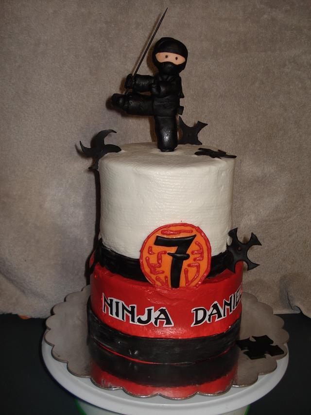 Phenomenal Ninja Birthday Cake By Chris Jones Cakesdecor Funny Birthday Cards Online Hendilapandamsfinfo