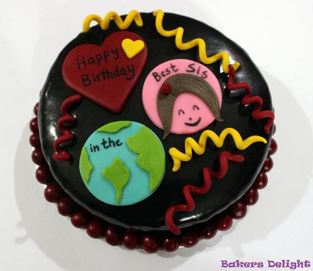 Marvelous Birthday Cake For A Sister Cake By Urooj Hassan Cakesdecor Funny Birthday Cards Online Alyptdamsfinfo