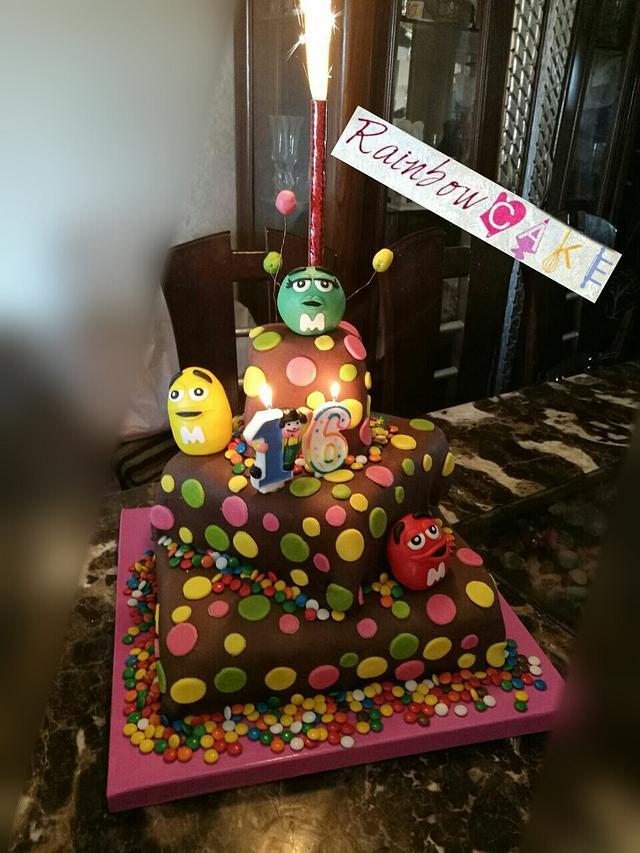 M&m' cake
