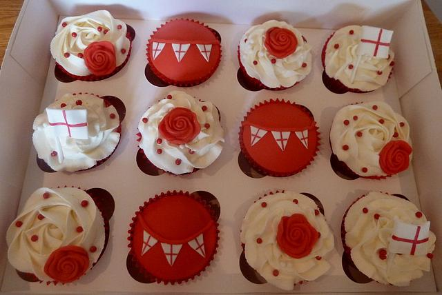 St George's Day Cupcakes