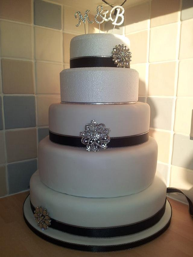 my first stacked wedding cake