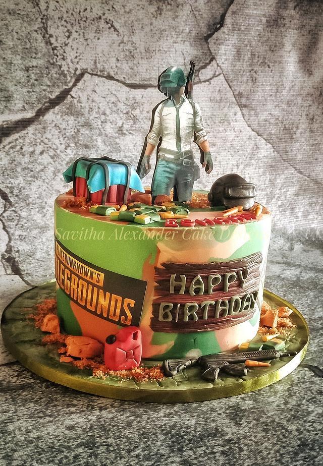 Gamer theme cake
