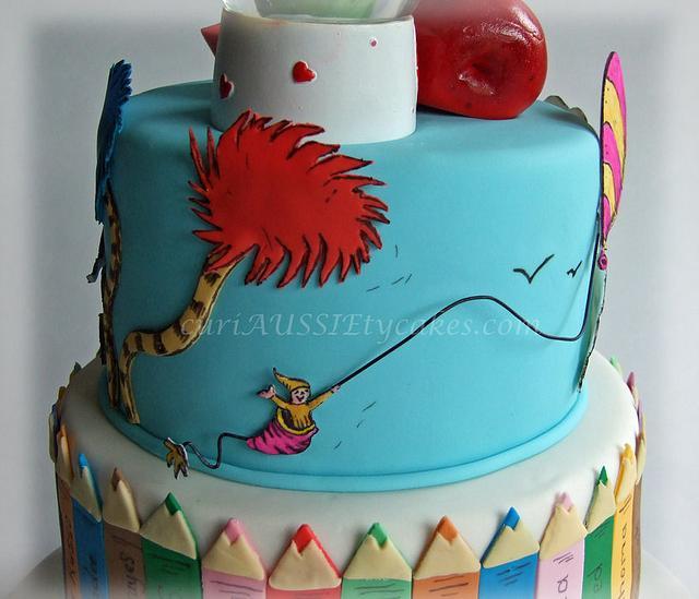 Teacher farewell / oh see how far you'll go cake