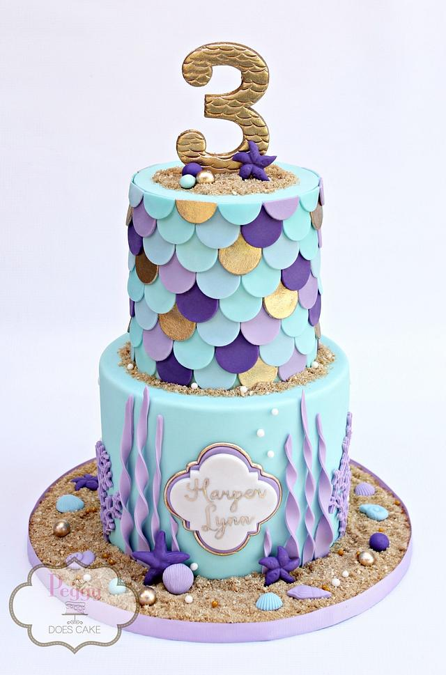 Astounding Mermaid Birthday Cake By Peggy Does Cake Cakesdecor Funny Birthday Cards Online Fluifree Goldxyz