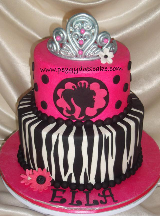 Modern Barbie Cake