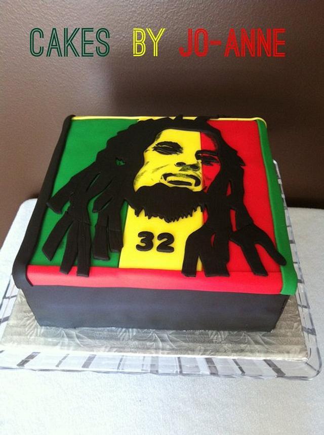 Fabulous Bob Marley Birthday Cake Cake By Cakes By Jo Anne Cakesdecor Funny Birthday Cards Online Elaedamsfinfo