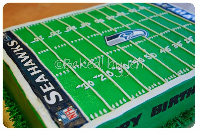 Brilliant Seattle Seahawks Birthday Cake Cake By Jen Cakesdecor Birthday Cards Printable Opercafe Filternl