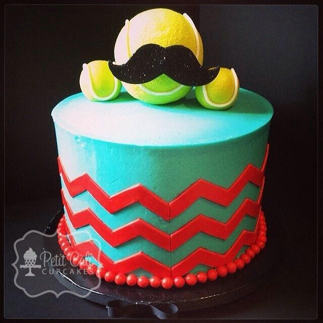 Fabulous Mustache Cake And Cupcakes Cake By Petit Cali Cupcakes Cakesdecor Funny Birthday Cards Online Necthendildamsfinfo