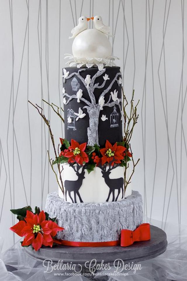 Bells, Bows and Birds Holiday Wedding - Cake Central Volume 4 Issue 12