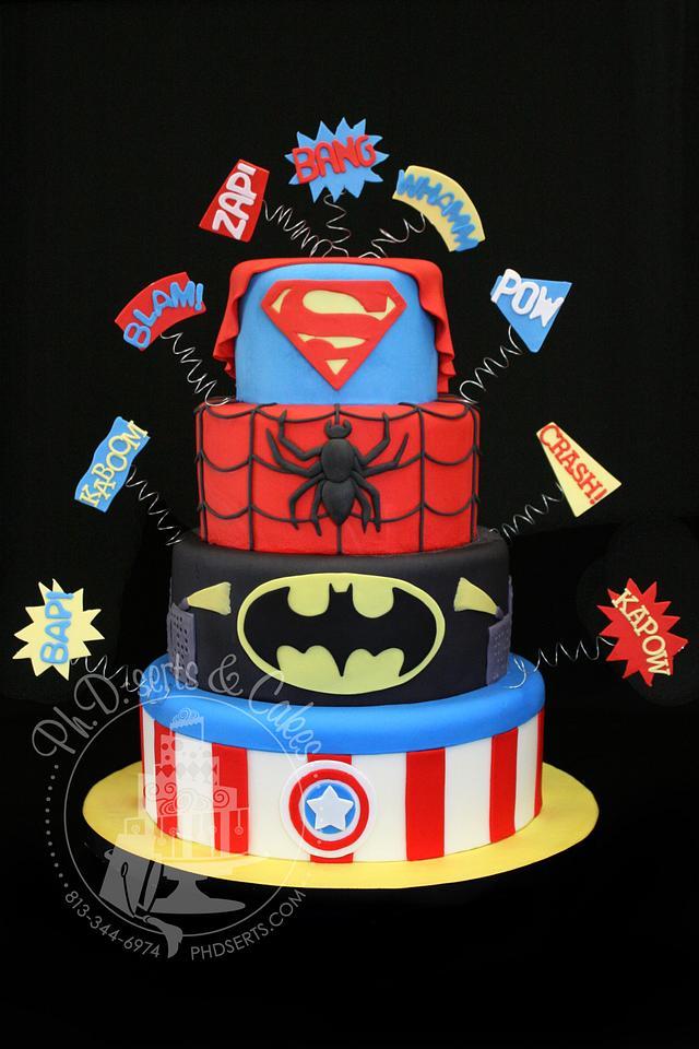 Tremendous Super Hero Birthday Cake Cake By Phdserts Cakesdecor Funny Birthday Cards Online Elaedamsfinfo