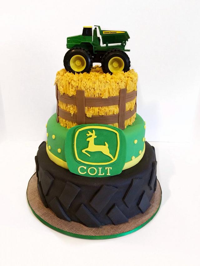 Remarkable John Deere Cake Cake By Sweet Cakes By Jessica Cakesdecor Funny Birthday Cards Online Overcheapnameinfo