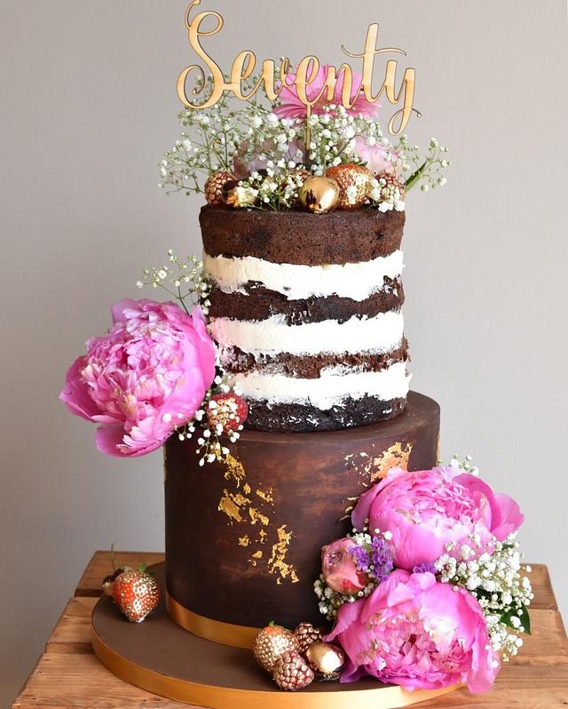 Naked & ganache cake