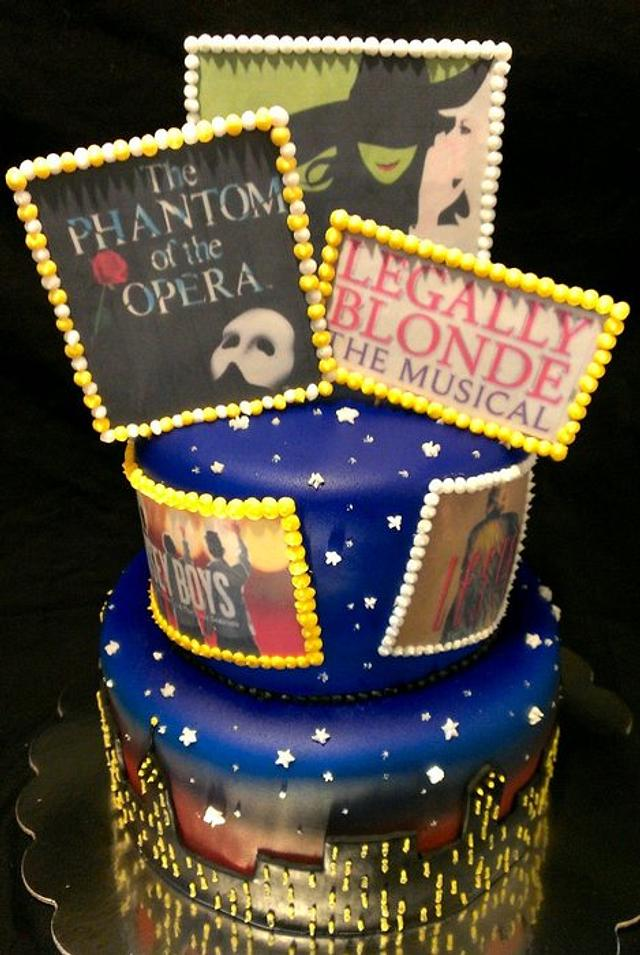 Astonishing Broadway Musicals Birthday Cake Cake By Kristi Cakesdecor Funny Birthday Cards Online Alyptdamsfinfo