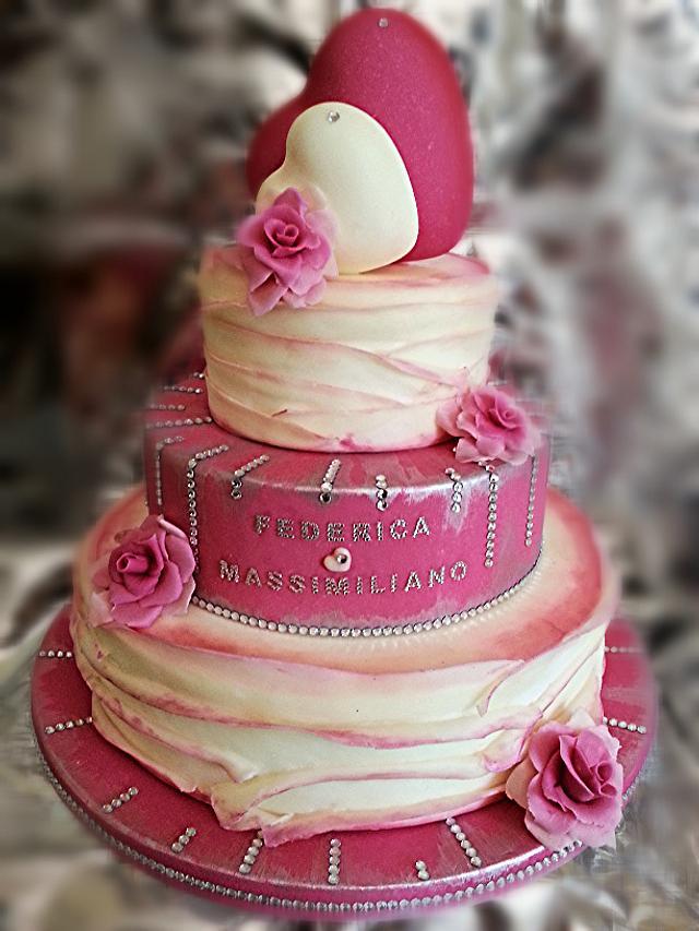 ruffle rose wedding cake by Barbara Buceti BB MoDe To Play