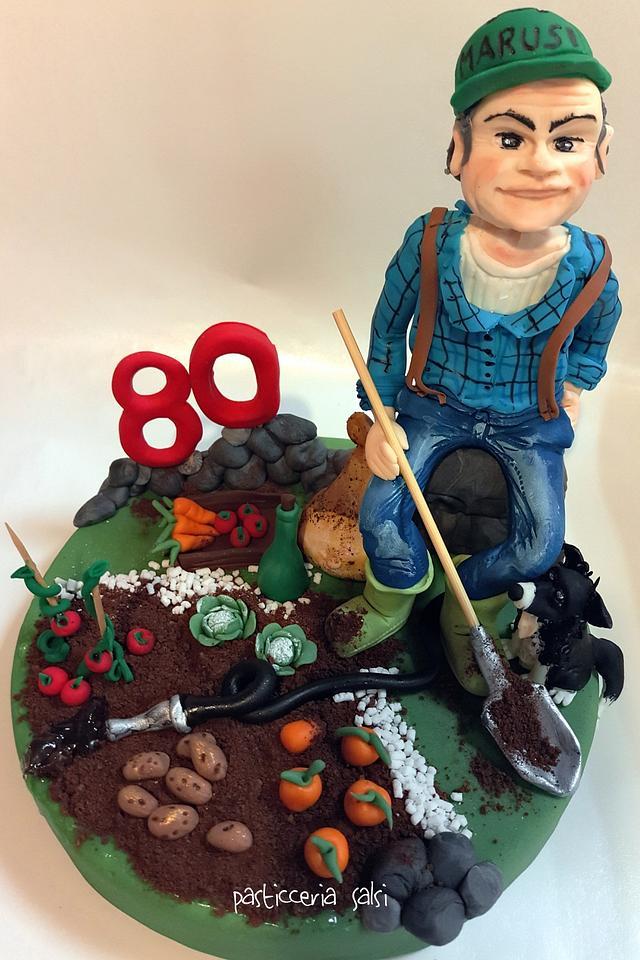 Grandfather cake topper 2