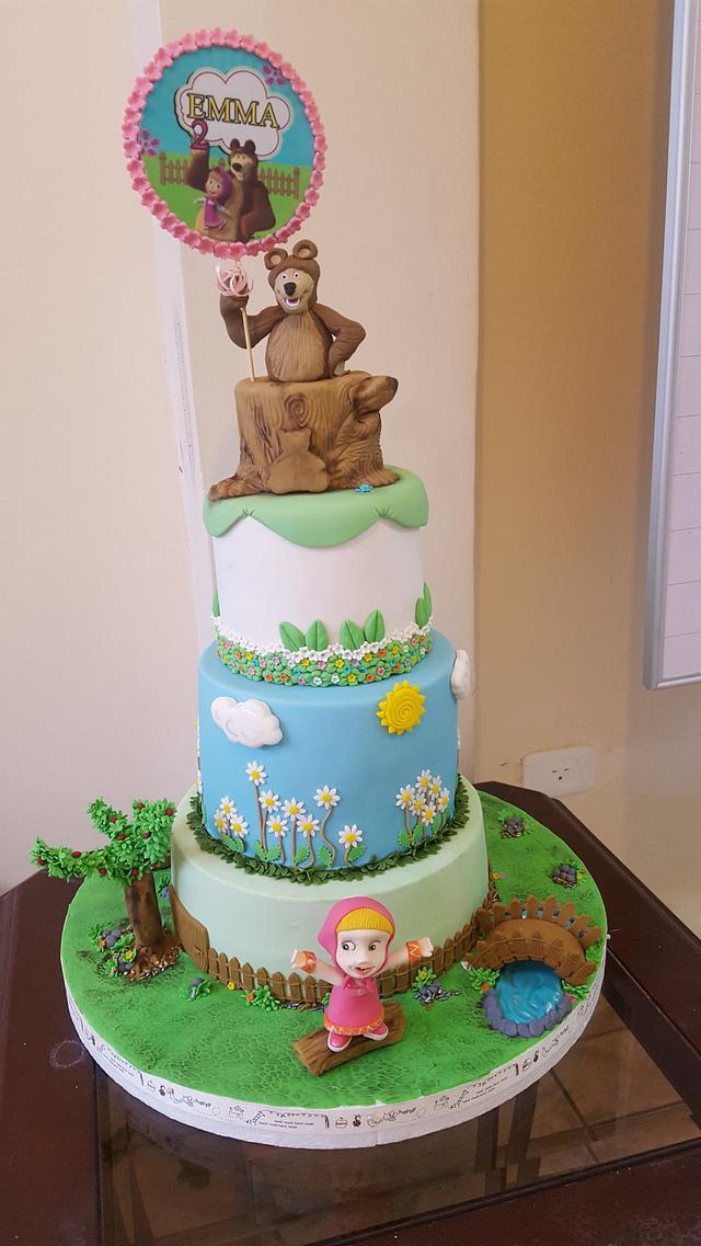 Cake Masha y el Oso