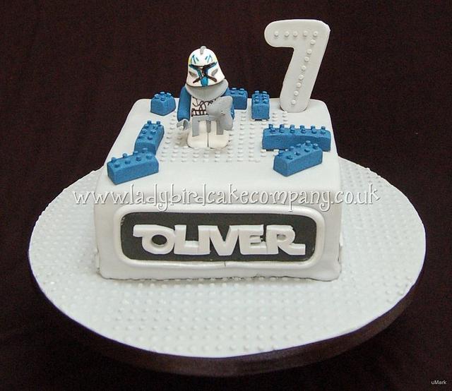 Fantastic Lego Star Wars Birthday Cake Cake By Liz Ladybird Cake Cakesdecor Funny Birthday Cards Online Alyptdamsfinfo
