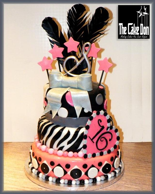 THE FINE FEATHERED SWEET 16 CAKE