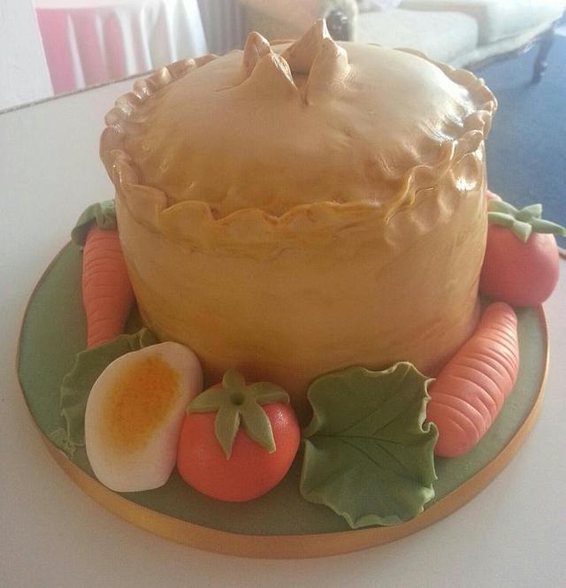 the pork pie cake