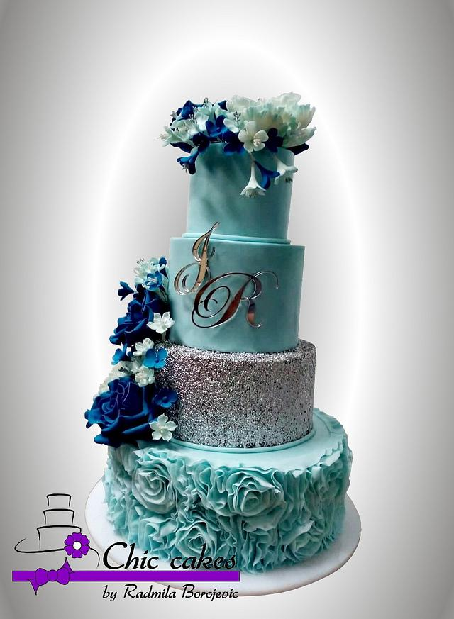 Cake for wedding to Helen and Riccardo