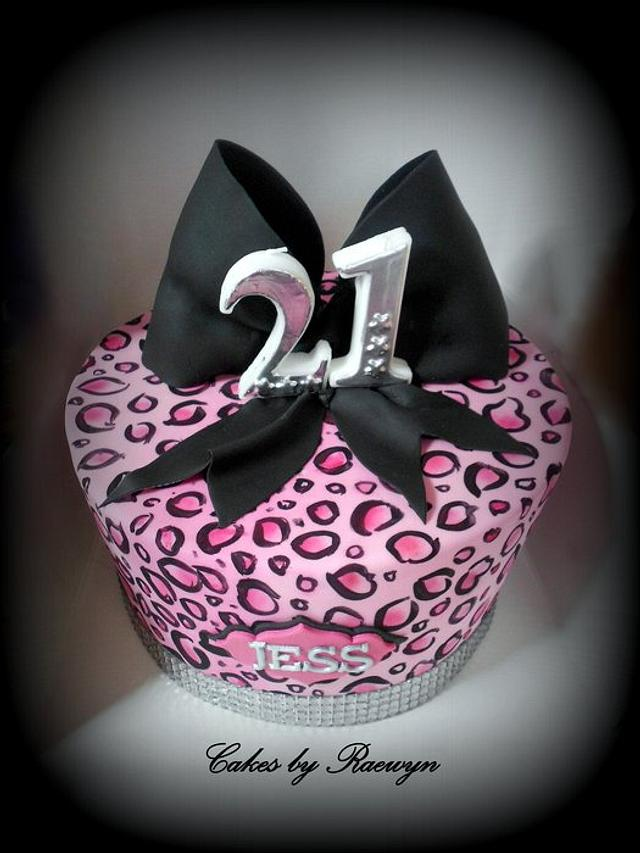 Hand Painted Pink Leopard Madhatter
