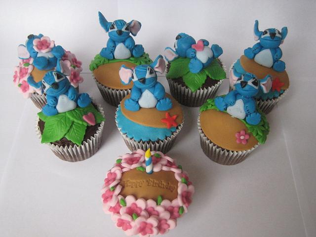 'Stitch' Birthday Cupcakes