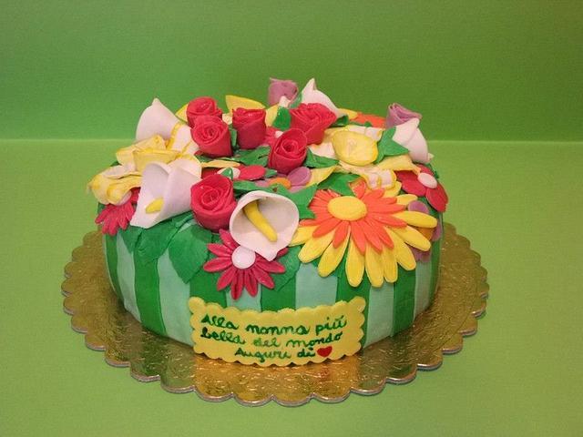 Astounding Cake Flower Arrangements Cake By Marilena Cakesdecor Funny Birthday Cards Online Hetedamsfinfo