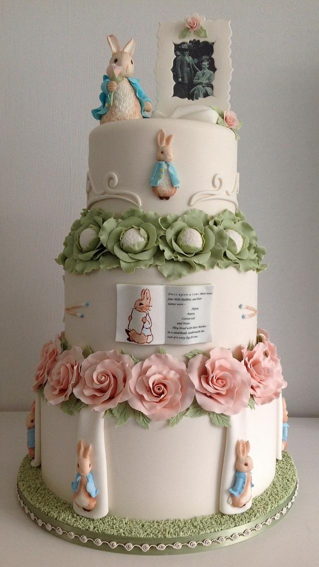 Peter Rabbit wedding cake ,Cake International entry 2014